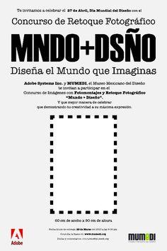 """Gadgets: Retoque Fotográfico: \""""Mundo + Diseño\"""" Concurso por el día del diseñador."""