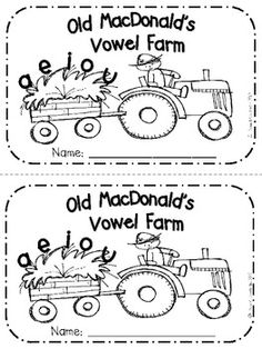 Free - Old MacDonald Short Vowel Emergent Reader