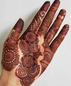 Modern Henna Designs, Latest Bridal Mehndi Designs, Finger Henna Designs, Mehndi Designs For Girls, Stylish Mehndi Designs, Mehndi Designs For Beginners, Dulhan Mehndi Designs, Mehndi Design Photos, Wedding Mehndi Designs