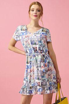 Šaty s barevnými domy Smashed Lemon Isolda Spandex, Casual, Dresses, Fashion, Vestidos, Moda, Fashion Styles, Dress, Fashion Illustrations
