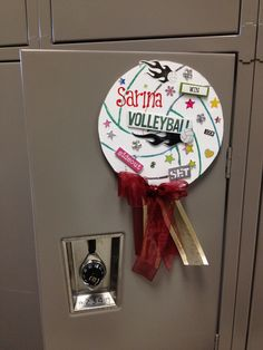 Easy Locker Signs. Volleyball