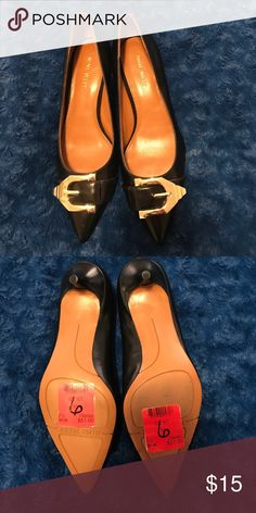 Like New Nine West Shoes Nine West pumps are in great barley worn condition! Gorgeous gold buckle! Shoes