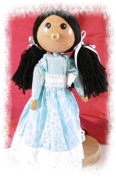 Poupée en bois articulée petite fille : Jeux, jouets par philco-creation
