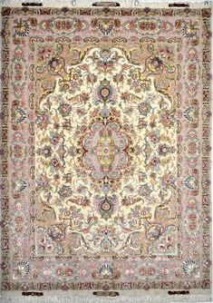 Amiri Silk Persian Rug You pay: $4,900.00 Retail Price: $9,500.00 You Save: 48% ($4,600.00) Item#: EK-78 Category: Small(3x5-5x8) Persian Rugs Design: Center Medallion Floral Size: 155 x 205 (cm)      5' 1 x 6' 8 (ft) Origin: Persian, Tabriz Foundation: Silk Material: Wool & Silk Weave: 100% Hand Woven Age: Brand New KPSI: 600