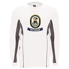 USS Independence Veteran Graphite Long Sleeve Shirt now available! Show your Navy Service pride with this White/Graphite Performance Long Sleeve Shirt. This performance shirt features 100% Polyester antimicrobial, moisture wicking fabric that will keep you cool, dry, and comfortable. THIS IS A PERFORMANCE FABRIC SHIRT, NOT COTTON. Designed, Printed & Sublimated in the USA -Fabric Imported.