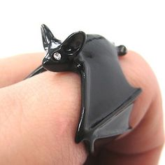 Adjustable Bat Wings Wrap Around Animal Ring in Black sold by DOTOLY Animal Jewelry. Shop more products from DOTOLY Animal Jewelry on Storenvy, the home of independent small businesses all over the world. Bat Animal, Animal Hugs, Cute Jewelry, Jewelry Accessories, Jewlery, Black Jewelry, Silver Jewellery, Jewelry Shop, Jewelry Rings
