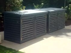 Slatted Bin Stores from The Bike Shed Company