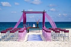 A different color combo for a beach wedding.