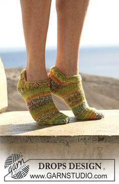 "DROPS ankle socks in double thread ""Fabel"". ~ DROPS Design"
