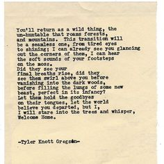 Typewriter Series #1431 by Tyler Knott Gregson ____ For Papa. ___ Chasers of the Light & All The Words Are Yours are Out Now! #tylerknott