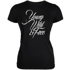Young Wild & Free Black Juniors Soft T-Shirt