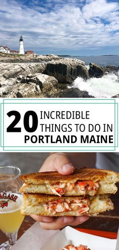 Maine is one of the most naturally beautiful places I've visited in the United States. So I'm leaving you with this guide of 20 incredible things to do in Portland, Maine! Portland Maine Restaurants, Visit Portland, Downtown Portland, Travel Portland, New England Fall, New England Travel, Maine In The Fall, Augusta Maine, Maine Road Trip