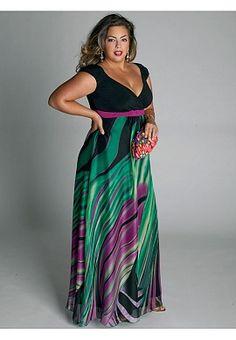 Rainforest Paradise Maxi Dress | Plus Size Dresses | One Stop Plus - via http://bit.ly/epinner