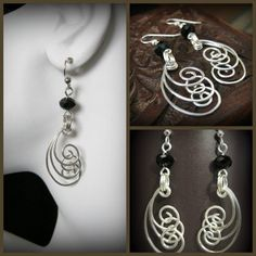 Unique and Beautiful Argentium Silver Dangle by ChantillyLily, $35.00