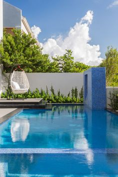 Swimming pool and outdoor Ideas De Piscina, Pool Water Features, Luxury Pools, Modern Pools, My Pool, Dream Pools, Beautiful Pools, Swimming Pool Designs, Cool Pools