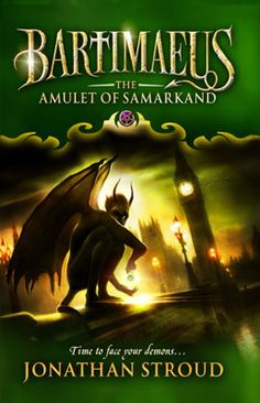 'Bartimaeus: The Amulet of Samarkand' by Jonathan Stroud. Cover Illustration by Jeff Nentrup. This edition by Corgi Books, Random House Children Books, London, Great Books To Read, Good Books, My Books, Book Series, Book 1, Jonathan Stroud, The Golem, High Fantasy, Fantasy Books