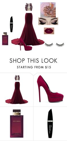 """noemi"" by evellynjones on Polyvore featuring moda, Casadei, Dolce&Gabbana, Max Factor e Battington"