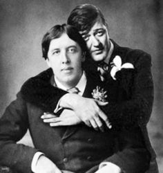 "Oscar Wilde & Stephen Frey -- an impossible but lovely photo-shopped meme....because Stephen Frey famously played Oscar Wilde in the 1990s biopic ""Wilde;"" about 100 years after the real Wilde walked the world. But the photo is a nice deviation, don't you think?"