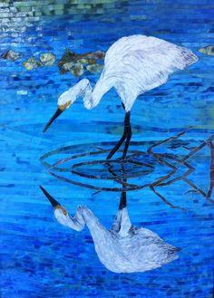 """""""In Reflection"""" by Linda Kunz. Visit her pages at lindakunz.com and facebook.com/lindakunzmosaics"""