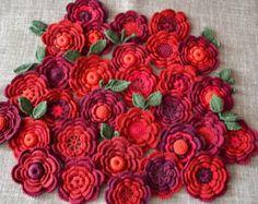 30 pcs 1 2 2-5 cm black crocheted appliqués Irish от AlisaSonya