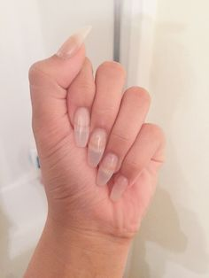 Clear Shellac Coffin Nails