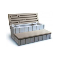 Steps For Tub W Storage Outdoors Pinterest Tubs