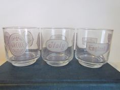 Vintage TWA Airline Glasses  Collectible  by daringmisslassiter, $25.00