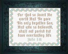 For God So Loved - John 3:16 elsa's room
