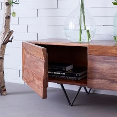 Sheesham TV stand Kwarto TV stands sale Tikamoon - TV Stands - Ideas of TV Stands Small Furniture, Furniture Design, Tv Stands Uk, Tv Stand For Sale, Modern Industrial Decor, Industrial Tv Stand, Industrial Living, Tv Stand Decor, Tv Cabinet Design