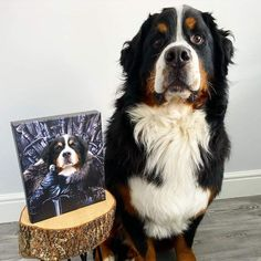 """custom dog family portrait """"Customize your favorite oil painting plus your pet portrait Check out our FAQ below for pet portrait tips so you can make sure you capture the perfect picture of Fido!"""