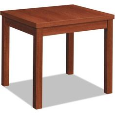 HON Laminate Occasional Table, Rectangular, 24 inch x 20 inch x 20, Cognac, Multicolor