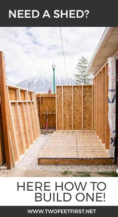 Build Shed Walls plus Floor Do you need more storage at your house? Maybe you need a shed. Here is how to build shed walls plus the floor. That way you can build your own shed!