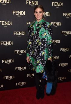 Pin for Later: See All the Stylish Stars Stepping Out For New York Fashion Week!  Olivia Palermo walked the red carpet at Fendi's flagship store opening.