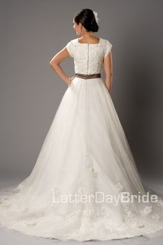 Modest Wedding Dress, Giuliano | LatterDayBride & Prom