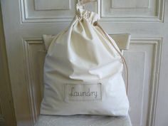Big Laundry bag Lingerie bag clothes bag calico by annadw on Etsy, $28.00
