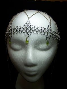 Chainmaille Renaissance Decorative Headpiece - Princess Style