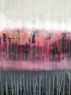 abstract art in pink and neutrals