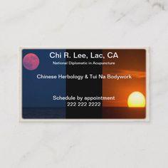 Moon Sun Business Card Zazzle Com Business Cards Cards Quality Cards