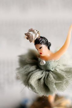The Tiny Dancer - original vintage ballerina mixed media figure by Mab Graves $30