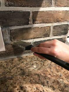 How to Make DIY Faux Brick Backsplash Basement walls (not just backsplash)?<br> DIY Faux Brick backsplash from faux brick panels