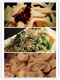 Fresh homemade noodles, served with dumplins and babybeans, springonions and soya. Very tasty.