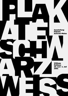 Niklaus Troxler, 2001 - Black and White Posters