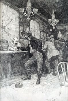 A bar scene (1920) by Franklin Booth