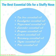 Natural Sleep Remedies How to sleep with a stuffy nose. - How do you sleep with a stuffy nose? Here's some home remedies for a blocked nose at night that will ease your nasal congestion naturally without medicine. Natural Remedies For Congestion, Cold And Cough Remedies, Snoring Remedies, Sleep Remedies, Insomnia Remedies, Oregano Essential Oil, Tea Tree Essential Oil, Essential Oil Uses, Lemon Essential Oils