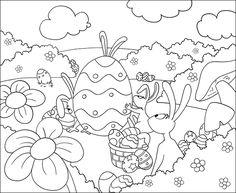 Jeux pour enfant coloriage paques
