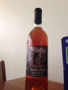 Tontitown Winery! Peachee's Peach   Great summer wine : )  Great winery! Springdale Arkansas!