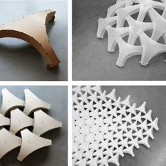 Physical models and mock-ups informed the geometric model of the Undulatus. – Wentong Xie Physical models and mock-ups informed the geometric model of the Undulatus. Physical models and mock-ups informed the geometric model of the Undulatus. Origami Fashion, Architecture Paramétrique, Architecture Geometric, Architecture Diagrams, Architecture Portfolio, Shell Structure, Folding Structure, Modular Structure, Module Design