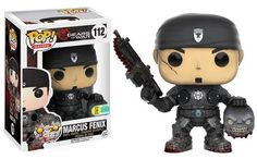 Gears of War Marcus Fenix with Head Pop figure by Funko, San Diego Comic Con 2016 Funko exclusive, LE 1000 pieces