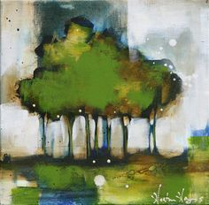 Heather Haynes - Spring Abstract Landscape Painting, Abstract Watercolor, Landscape Art, Landscape Paintings, Art For Art Sake, Tree Art, Artist Art, Painting Inspiration, Artwork