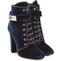 Giuseppe Zanotti Velvet Ankle Boots